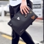 Pre-order กระเป๋าถือครัทช์ผู้ชาย แฟชั่นเกาหลี รหัส Man-8764 สีดำ thumbnail 1