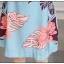 ชุดเดรสแขนกุด ผ้าคอตตอนผสม ทอเนื้อดี พื้นสีฟ้า พิมพ์ลายใบไม้ และดอกไม้สีตามแบบ thumbnail 12