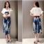 แฟชั่นเกาหลี set เสื้อ กระโปรง และเข็มขัดสวยสุดคุ้มจ้า thumbnail 5