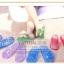 K012 **พร้อมส่ง** (ปลีก+ส่ง) รองเท้านวดสปา เพื่อสุขภาพ ปุ่มเล็ก (ใส) มี 7 สี ส่งคู่ละ 80 บ. thumbnail 2
