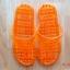 K013-OR **พร้อมส่ง** (ปลีก+ส่ง) รองเท้านวดสปา เพื่อสุขภาพ ปุ่มเล็ก (ใส) หูหนีบ สีส้ม ส่งคู่ละ 80 บ. thumbnail 5