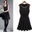 DRESS ชุดเดรสแขนกุด สีดำ คอกลม แฟชั่นเกาหลี สาวมั่น ใส่ทำงาน ผ้า COTTON แต่งลูกปัดคอเสื้อ สวมใส่ดูดีมีสไตล์ thaishoponline thumbnail 1
