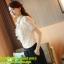 เสื้อผ้าเกาหลี Style good you เสื้อผ้าลูกไม้ สีครีมทอง แต่งระบายที่หน้าอก แขนตุ๊กตา คอติด มีซับในสวยเหมือนแบบครับ (เนื้อผ้าดี เกรด A) พร้อมส่ง thumbnail 5