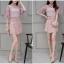 แฟชั่นเกาหลี set เสื้อ และกระโปรงสวยหวาน สีชมพูกะปิ thumbnail 8