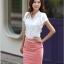 เสื้อทำงาน แฟชั่นเกาหลี สีขาว คอวีประดับมุดเงิน แขนระบาย กระดุมผ่าหน้า เสื้อผ้าสาวทำงาน ราคาถูก สวยมากๆครับ (พร้อมส่ง) thumbnail 3