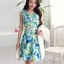 แฟชั่นเกาหลี set 2 ชิ้น เสื้อสูท สีขาว แขนยาว + ชุดเดรส แขนกุด พิมพ์ลายดอกไม้ thumbnail 4
