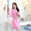 ชุดเดรสสวยๆ ผ้าคอตตอนผสมเนื้อนิ่มมาก สีชมพูเข้ม thumbnail 1