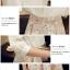 ชุดเดรสสวยๆ ตัวเสื้อผ้าชีฟองเนื้อดี สีขาว แขนยาวสามส่วน thumbnail 11