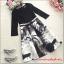 ชุดเดรสแฟชั่น ตัวเสื้อผ้าลูกไม้ชนิดยืดหยุ่นได้ดี สีดำ แขนยาวสี่ส่วน thumbnail 9