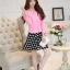 แฟชั่นเกาหลี set เสื้อสูท สีชมพู และกระโปรง สวยมากๆ thumbnail 5