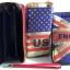 พร้อมส่ง AB-7001-1 สีน้ำเงิน กระเป๋าสตางค์ใบยาว พร้อมสายคล้องมือลายธงชาติอังกฤษ thumbnail 2