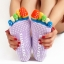 S595**พร้อมส่ง** (ปลีก+ส่ง) ถุงเท้าโยคะ มีกันลื่น มี 12 คู่ต่อแพ็ค คละ 6 สี เนื้อดี งานนำเข้า(Made in China) thumbnail 4