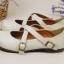 Pre-Order รองเท้าตุ๊กตา-สีขาวเทา thumbnail 3