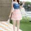 ชุดเดรสน่ารัก เดรสตัวเสื้อผ้ายีนส์ ช่วงอกและไหล่ ผ้าลูกไม้แบบนิ่มสีชมพู ยืดหยุ่นได้ดี กระโปรงผ้าไหมแก้วสีชมพู thumbnail 5