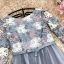 ชุดเดรสน่ารัก ตัวเสื้อผ้าถักโครเชต์ลายดอกไม้ 3 สี (เทา ครีม และชมพูกะปิ) แขนยาว thumbnail 8