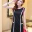 เสื้อผ้าแฟชั่น ชุดเดรสแฟชั่น สีดำ ใส่ทำงาน หรือใส่เที่ยวสวยมากๆ ครับ thaishoponline.net (พร้อมส่ง) thumbnail 3