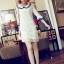 DRESS ชุดเดรสแฟชั่นผ้าลูกไม้ สีเบจ คอตุ๊กตาเกาหลี ใส่ทำงาน สามารถใส่ออกงานได้ น่ารักมากๆ ครับ (พร้อมส่ง) thumbnail 5