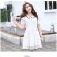 ชุดเดรสน่ารัก ตัวเสื้อผ้าลูกไม้ สีขาว คอปก ปลายแขนเสื้อ เย็บตัดด้วยผ้าลายตารางสีขาว thumbnail 5