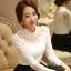 เสื้อผ้าลูกไม้ สีขาว แขนยาว สวยมากๆ ช่วงไหล่เป็นผ้ามุ้งซีทรู thumbnail 14