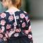 เสื้อผ้าแฟชั่น สุด Chic เสื้อแฟชั่นแขนยาว ผ้าเกาหลี ลายดอกกุหลาบ รหัส 9008_3 thumbnail 3