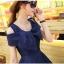 ชุดเดรสน่ารัก ผ้าชีฟองชนิดเนื้อทราย สีน้ำเงิน thumbnail 3