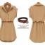 [พร้อมส่ง]สไตล์ยุโรป 2014 แฟร์ชั่นฤดูร้อนใหม่เสื้อผู้หญิงขนาดใหญ่ในชุดชีฟองยุโรปและอเมริกา แขนสั้นพร้อมเข็มขัด thumbnail 6