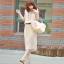 MAXI DRESS - ชุดเดรสยาว เดรสเกาหลี เสื้อกล้าม สีเบจ แต่งคอ จั๊มช่วงเอว ใส่ไปทะเลชิวๆ ใส่ทำงาน เก๋ไก๋ น่ารักดีจ้า thumbnail 1