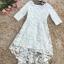 ชุดเดรสสวยๆ ตัวชุดผ้าโปร่งเนื้อละเอียด ตัวผ้าเดินเส้นผ้าริบบิ้นสีขาวโค้งหยักตามแบบ thumbnail 11
