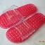 K021-RD**พร้อมส่ง** (ปลีก+ส่ง) รองเท้านวดสปา เพื่อสุขภาพ สีแดง ปุ่มเล็ก(ใส)แบบนิ่ม ส่งคู่ละ 120 บ. thumbnail 2