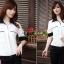 เสื้อทำงาน เสื้อแฟชั่น เสื้อเกาหลี เสื้อแขนยาว คอปก กระดุมหน้า กระเป๋าหน้า เสื้อสีขาว สวยมากๆ (พร้อมส่ง) thumbnail 2