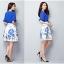 แฟชั่นเกาหลี set เสื้อและกระโปรง สีน้ำเงิน thumbnail 5