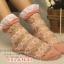 ถุงเท้าซีทรู ขอบระบาย สีชมพู thumbnail 1