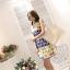 เสื้อผ้าแฟชั่นเกาหลี set 2 ชิ้น เสื้อและกระโปรง ผ้าคอตตอนผสมสีสันสดใส สวยสดใสครับ thumbnail 3
