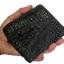 กระเป๋าสตางค์ 2 พับ หนังจระเข้เเท้ หนังต่อเย็บมือ สีดำ thumbnail 7