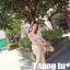 ชุดเดรสเกาะอก แฟชั่นเกาหลี สีครีม มีสายคล้องคอ thumbnail 7