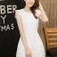 ชุดเดรสชีฟองเกาหลี ชนิดเนื้อทราย สีขาว สวยมากๆ thumbnail 1