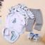 พร้อมส่ง Gift set ขายส่ง ชุดเด็กทารกใช้ได้ทั้งเพศหญิงและชาย รหัส T-66046-6M ไซร์ 6M (เด็ก 3-6 เดือน ) สีฟ้าลายไดโนเสาร์ 1 เช็ต / มี 5 ชิ้น thumbnail 1