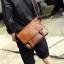 Pre-order ขายส่ง กระเป๋าหนังสะพายข้างผู้ชาย ใส่ Tab 10 นิ้ว Messenger bag แฟขั่นเกาหลี รหัส Man-302 สีน้ำตาลอ่อน thumbnail 1