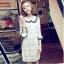 DRESS ชุดเดรสแฟชั่นผ้าลูกไม้ สีเบจ คอตุ๊กตาเกาหลี ใส่ทำงาน สามารถใส่ออกงานได้ น่ารักมากๆ ครับ (พร้อมส่ง) thumbnail 1