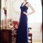 ชุดเดรสยาวออกงาน ชุดเดรสยาว สีน้ำเงิน คอวี โชว์ไหล่ สวยมากๆ ซื้อเป็นของขวัญ ของฝาก ให้แฟนเหมาะมากๆ ครับ New!! (พร้อมส่ง) thumbnail 4
