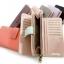 พร้อมส่ง AB-002-7 มีหลายสี กระเป๋าสตางค์ไซร์ยาว หนัง PU นิ่ม แต่งอะไหล่เรียบหรู สไตล์ charles&keith thumbnail 9