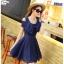 ชุดเดรสน่ารัก ผ้าชีฟองชนิดเนื้อทราย สีน้ำเงิน thumbnail 1