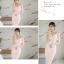 ชุดเดรสสวยๆ ผ้าโพลีเอสเตอร์ผสมสีชมพูโอรส สายเดี่ยว เปิดไหล่ thumbnail 15
