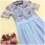 ชุดเดรสยาว ใส่ออกงาน ตัวเสื้อเป็นผ้ามุ้งเนื้อละเอียดปักด้วยด้ายเป็นลายดอกไม้ thumbnail 7