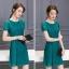 ชุดเดรสสวยๆ ตัวเสื้อผ้าลูกไม้เนื้อดี ยืดหยุ่นได้ สีเขียว ดีไซน์เก๋มากๆ thumbnail 5