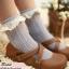 [พิเศษ 2 คู่ 120 ] ถุงเท้าลูกไม้วินเทจ thumbnail 4