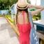 ชุดว่ายน้ำทูพีช สีแดงแตงโม สดใสน่ารักมากๆ มีกางเกงขาสั้นแยกให้ thumbnail 4
