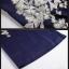 ชุดเดรสทำงาน ผ้าโพลีเอสเตอร์ผสมสีน้ำเงิน แขนยาวสี่ส่วน thumbnail 7