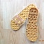 K020-ฺBR **พร้อมส่ง** (ปลีก+ส่ง) รองเท้านวดสปา เพื่อสุขภาพ ปุ่มใหญ่สลับเล็ก (การ์ตูน) สีน้ำตาล ส่งคู่ละ 150 บ. thumbnail 6