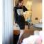 เสื้อผ้าคอตตอนผสม แฟชั่นเกาหลี สีดำ ยืดหยุ่นได้ แขนยาว ประดับ มุกสีขาว คริสตรัลใสสวยเก๋มากๆ thumbnail 5